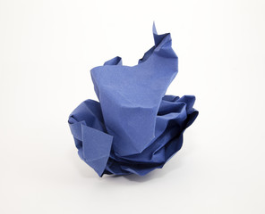 Boule papier bleu