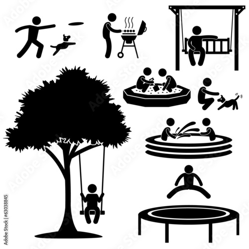 People Children Garden Park Playground Backyard Activities