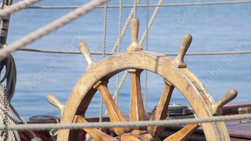 Helm - Antique pirate sail ship