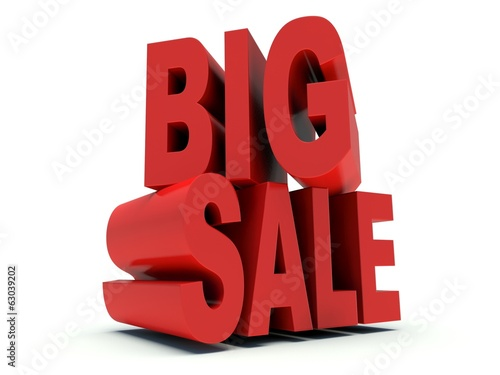 Advertising words Big Sale. 3d render