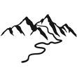 canvas print picture - Schöne Berge Mit Wanderweg