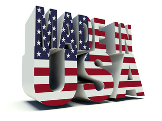 Made in USA with the american flag colors.