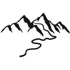 Schöne Berge Mit Wanderweg