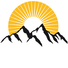 Schöne Berge Mit Sonne