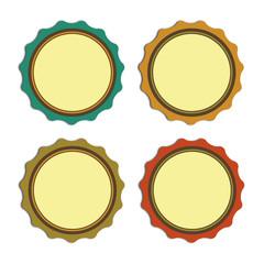 Etiquetas vintage redondas para ofertas y promos