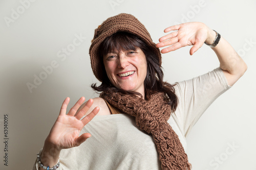 Portrait of carefree and cheerful woman