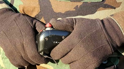 Trigger Controller Used By Soldier Tight Closeup