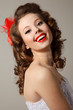 Gorgeous pin-up bride