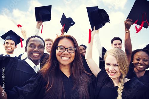 Diverse International Students Celebrating Graduation - 63041062