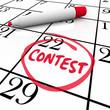 Contest Calendar Date Circled Reminder Entry Deadline Win