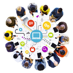 Social Networking: People Using Digital Devices
