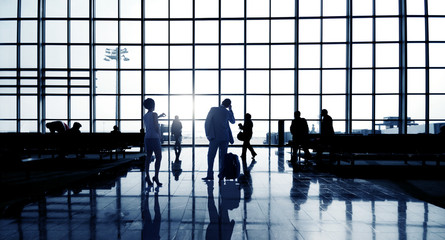 Silhouette Of Business People Waiting