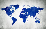Blue Cartography Of The World poster