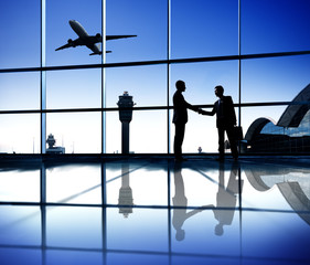 Agreement of Two Businessman on an Airport
