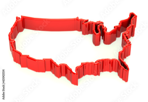 United States Wall border map logo