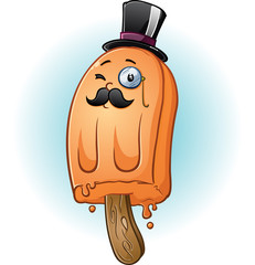 Gentleman Popsicle Cartoon Character