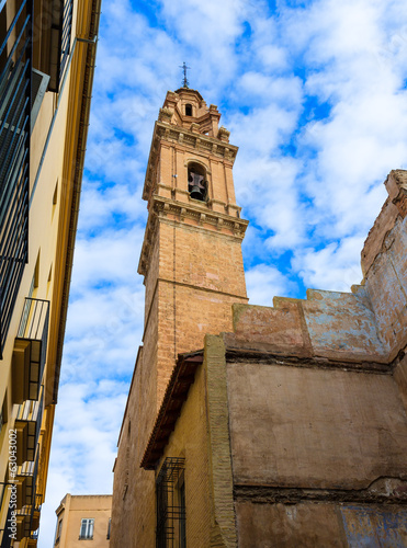 Valencia San Esteban Protomartir church belfry Spain