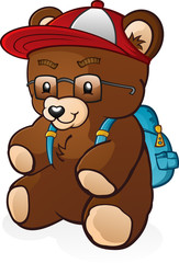 Back To School Student Teddy Bear Cartoon Character