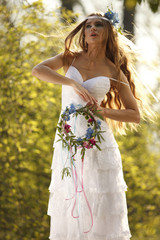 Bride in hippie style