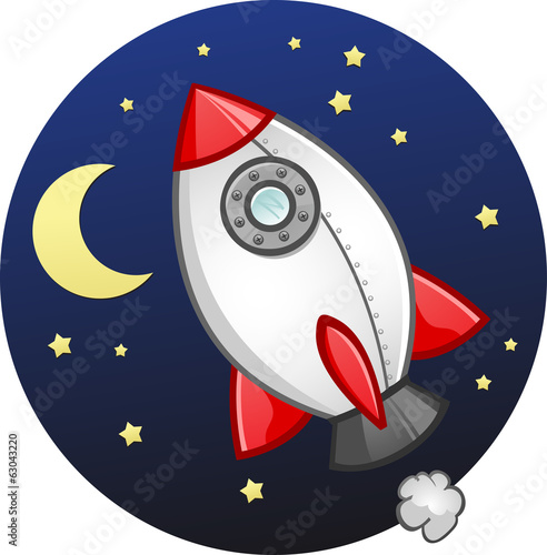 Toy Rocket Ship Cartoon
