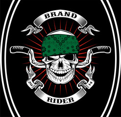 Skull Biker Rider