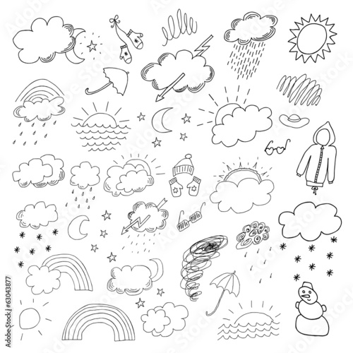 weather hand drawn set