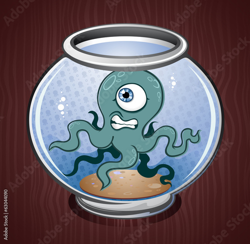 Pet Octopus Squid Cartoon Character