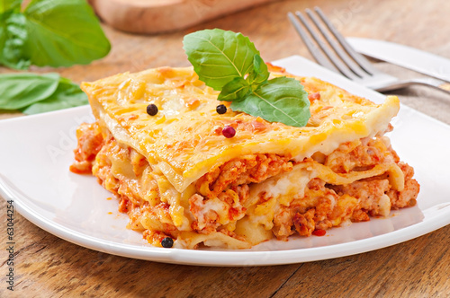 Classic Lasagna with bolognese sauce - 63044254