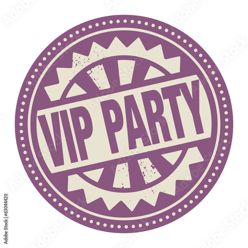 Abstract stamp or label with the text VIP Party written inside