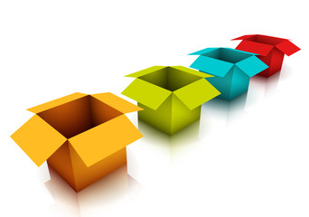 Multicolored boxes