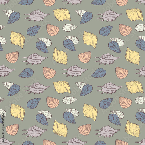 Shell seamless background