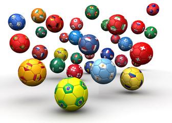 Country flag soccer balls