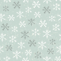 Snowflake retro seamless background
