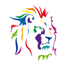 Vector Logo Lion, strength and courage concept