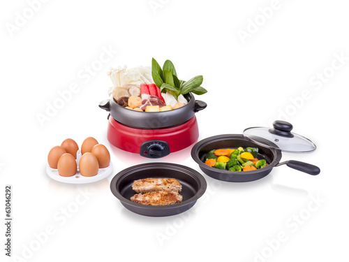 Multiple purpose electric pot kitchenware, an image isolated