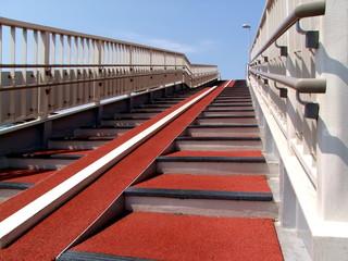 歩道橋階段