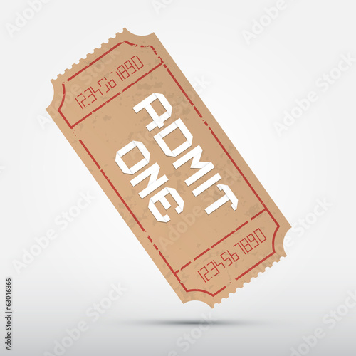 Vector Admit One Ticket Illustration