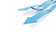 Three blue business arrow concept