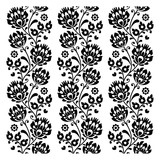 Seamless traditional folk polish pattern in black - 63047285