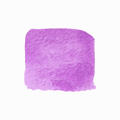 Violet Square Watercolor Banner. Abstract Vector Background.