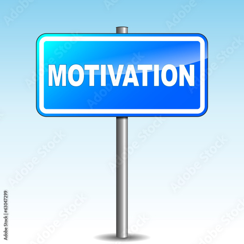 Vector blue motivation signpost