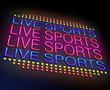 Live sports concept.