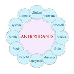 Antioxidants Circular Word Concept