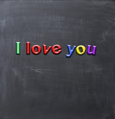 I love you magnetic letters board