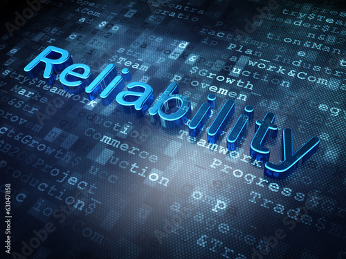 Finance concept: Blue Reliability on digital background