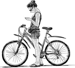 girl with a bike