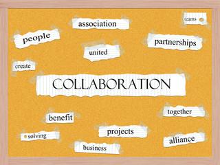Collaboration Corkboard Word Concept