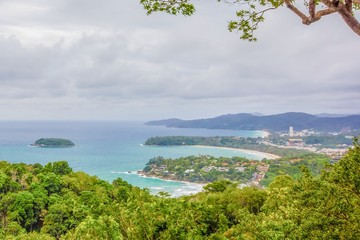 Kata and Karon Bay Viewpoint,Phuket,Thailand