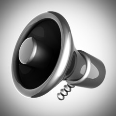 metallic cartoon megaphone