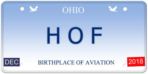 HOF Ohio Imitation License Plate